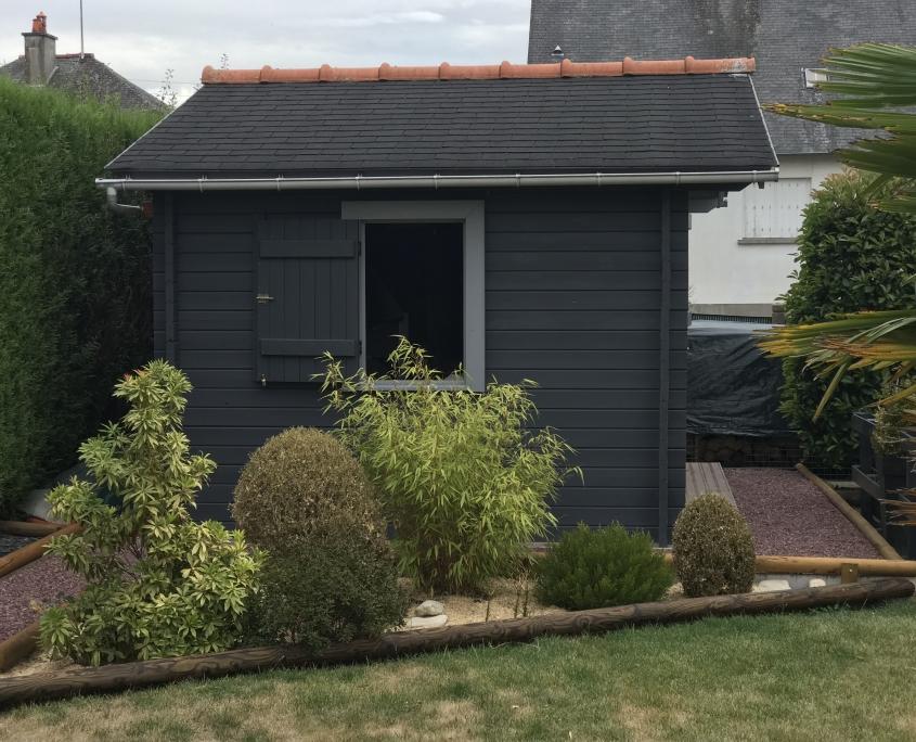 Abri de jardin Maisonelle avec terrasse