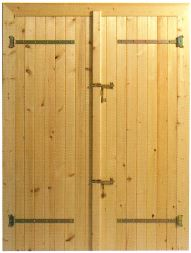 porte pour abri de jardin, chalet Maisonelle
