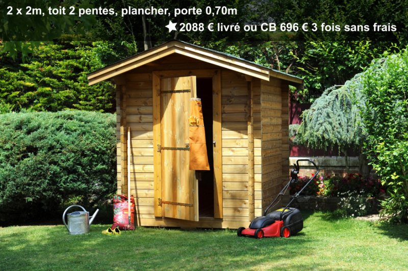 Prix petit abri de jardin avec plancher et porte simple