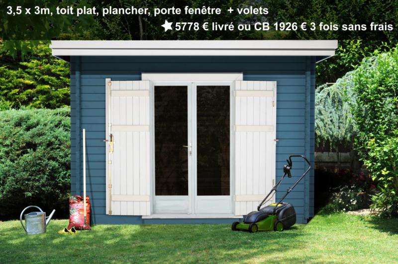 Prix grand abri de jardin avec double porte vitrée