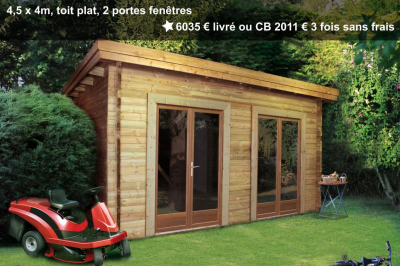 Prix grand abri de jardin Maisonelle avec double porte vitrée
