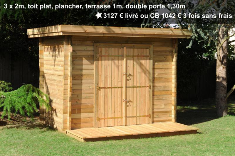 Prix abri de jardin Maisonelle avec double porte